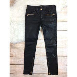 Zara Coates black skinny jeans ankle zippers 2